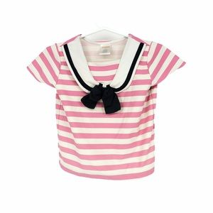 $5 bundle add - 3T pink striped tee nautical bow